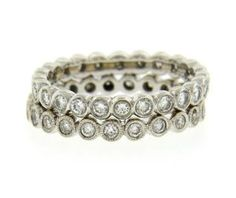 Lot of 2 18K Gold Diamond Eternity Band Rings Featured in our upcoming auction on June 14!