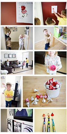 I love this sweet idea for kids- wish I had more than one child so I could use all of this idea- but really sweet...