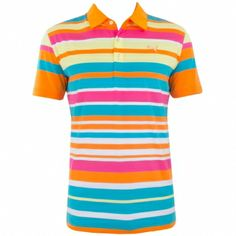 188b69629f6 Puma Golf Roadmap Stripe Polo Vibrant Orange - SS14 Graham DeLaet - Phoenix  Open