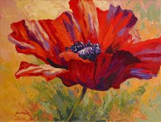 Red Poppy II Painting by Marion Rose - Red Poppy II Fine Art Prints and Posters for Sale