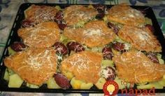 To je nápad! Meat Recipes, Cooking Recipes, Czech Recipes, Good Food, Pork, Food And Drink, Menu, Cheese, Snacks