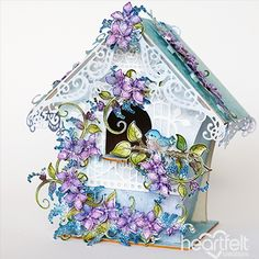 Touched by Spring - created w/ the Lush Lilac Collection from #HeartfeltCreations #alteredart #gift #papercrafts #decor