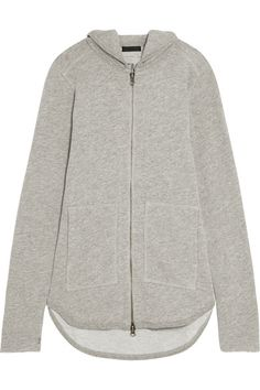 ATM Anthony Thomas Melillo - French Cotton-blend Terry Hooded Top - Gray -