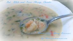 Red, White, and Green Shrimp Chowder: 30 Minute Meal Briggs Shrimp Chowder, Clam Chowder, Great Recipes, Soup Recipes, Tasty, Yummy Food, 30 Minute Meals, Everyday Food, Seafood Dishes