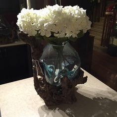 New Hand Blown Glass Bowl or Centrepiece from Bali. Thoughts? #bali #homedecor#art