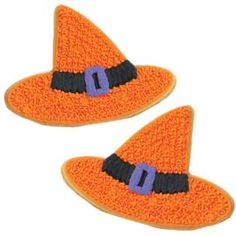 Wilton: example of decorated Star Witch Hats Cookies