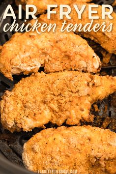Youre definitely going to want to save this recipe once you try it. These breaded air fryer chicken tenders are nice and crispy on the outside with a juicy tender inside. Plus theyre super simple to make! Air Fryer Recipes Chicken Tenders, Air Fryer Fried Chicken, Breaded Chicken Tenders, Chicken Tender Recipes, Chicken Meals, Recipe Chicken, Rotisserie Chicken, Air Fryer Dinner Recipes, Air Fryer Recipes Easy