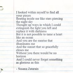 I could never forget something as glorious as this. - susana zatarain.