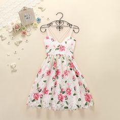 Pretty High Quality Floral Lace Dresses, Summer Dresses, Floral Lace Dresses, Cute Dresses on Luulla