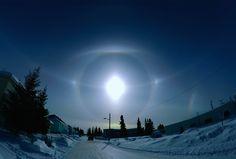 awkwardsituationist: photos of 22º radius halos, which occur as… | denlArt