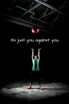 That's what I love about Cross Fit, I'm competing against myself and will only get as good as I push myself to get!