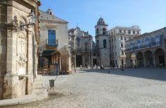 Parte de la Plaza de la Catedral en la Habana Vieja