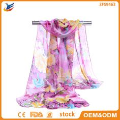 Check out this product on Alibaba.com App:2016 wholesale stock Newest Design Printed Chiffon Peony Scarf for women https://m.alibaba.com/UrUVZr