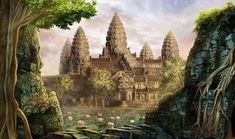 Angkor Wat is a vast stone temple at the heart of an ancient stone city. But at the ends of its corridors and the centres of its hidden room. Cambodian Tattoo, Cambodian Art, Khmer Tattoo, Angkor Wat, Kaa Jungle Book, Landscape Art, Landscape Photography, Buddhist Shrine, Mandalas