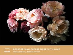 christina fluegge from greige design made these pretty floral desktops Happy Flowers, Beautiful Flowers, Dress Your Tech, Macbook Wallpaper, Floral Photography, Floral Bouquets, Vintage Flowers, Flower Pots, Peonies