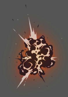 爆炸特效参考-FlyT漫画教程