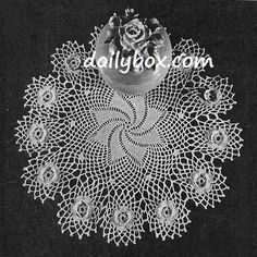 Free Vintage Crochet Rosewhirl Doily Pattern