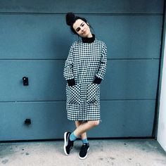 Layer up your look in this boxy Gingham dress by Boutique. #Topshop