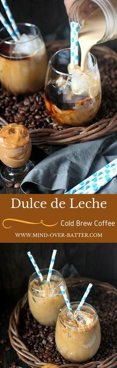 Dulce de Leche Cold Brew Coffee - www.mind-over-batter.com