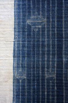 metsadesign:  Really want this fabric wendyhanson:  a treasure i found in asia miao hill tribe indigo batik