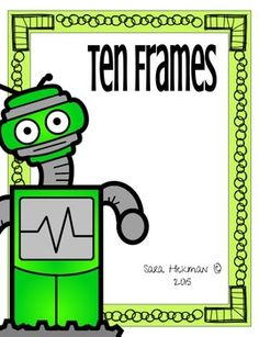 "Robot Ten Frame is a great hands on activity for counting, grouping and 1:1 correspondence for numbers 1 to 10. Includes early addition and subtraction skills.Who can play? Pre-K Kindergarteners (5 to 6-year-olds) Math learners Homeschoolers Let's Play!Includes:  10 Frame Number Cards (1 to 10) ""+"" card  ""-"" cardCounting: Pick a card 1 to 10 and fill the frame."