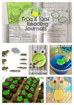 Frog and Toad activities including pond habitats and the frog life cycle