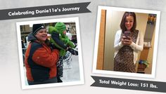 We're celebrating Danie11e's Before & After RNY Gastric Bypass, losing 151lbs! Read her NSVs and the post on the ObesityHelp message board that helps her!