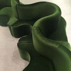 wavy velvet green se