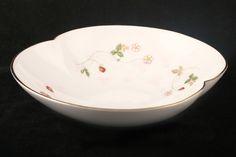 wedgwood wild strawberry china | Wedgwood - Wild Strawberry - Serving Dish -f Pink Glaze/Scalloped Bowl