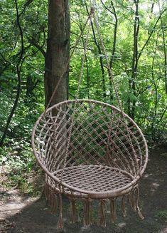 Плетем круглое кресло-гамак своими руками