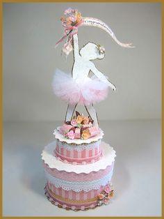 """Little Girl's Ballerina"" Cake Topper, Centerpiece, Keepsake Box"