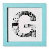 Nursery DIY art: Print a letter big on computer, cut out with exacto knife and place photos behind Cute Crafts, Crafts To Do, Arts And Crafts, Diy Crafts, Room Crafts, Diy Projects To Try, Craft Projects, Photo Projects, Diy Wall Art