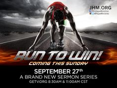 Pastor John Hagee's new sermon series starts this Sunday! You are running a race for the crown of life. It's a race to be run with endurance and total effort every day. You don't want to miss this sermon online at GETV.ORG!