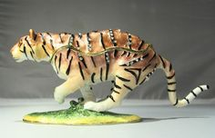 New Trinket Box Gift Painted Crystals Wild Tiger Animal