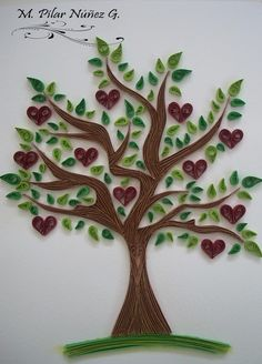 ❀ Crea Quilling ❀ : Tree of quilled hearts