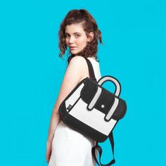 Jump from paper black stripe backpack Material:  polyester | Cleaning: gently scrub your bag gently with clean water, or diluted / mild detergent | Capacity: iPad Air | bag looks like it's a cartoon very cool and different. Used once for editorial purpose Jump from paper Bags Laptop Bags