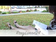 DIY Bow Sandals + DIY Elastic Ribbon Hair Ties. Easy to do, just watch the video.