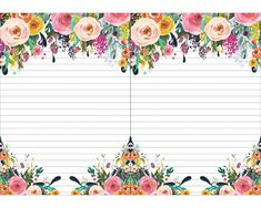 Free Printable 2019 Floral Calendar + Shopping List, To Do List, and Note Pad! - The Cottage Market Free Printable Stationery, Free Printable Calendar, Printable Paper, Free Printables, Envelopes, Notebook Paper, Stationery Paper, Writing Paper, Vintage Floral