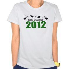 Dental School Grad 2012 (Green Caps And Diplomas) T Shirt, Hoodie Sweatshirt