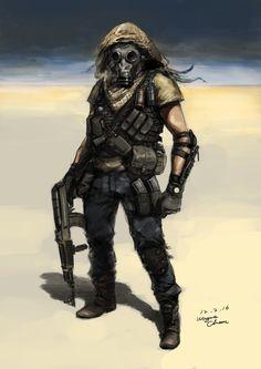 ArtStation - Mercenary, Wayne Chan