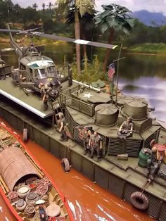 Résultat d'images pour Vietnam War Military Dioramas Brown Water Navy, Model Warships, Tin Can Lanterns, Girls Dollhouse, Cool Boats, Military Modelling, Rc Model, Plastic Model Kits, Vietnam War