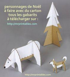 Un bricolage de Noël facile et rapide à faire avec les enfants | Cardboard animals, Christmas ...