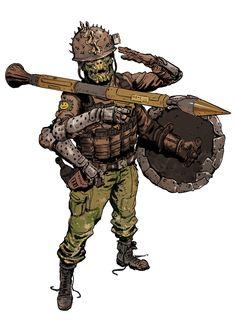 Character Concept, Character Art, Concept Art, Science Fiction, Post Apocalyptic Costume, Apocalypse Art, Futuristic Art, 3d Texture, Sci Fi Characters