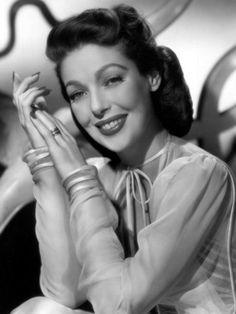 1946 Loretta Young in very pretty negligee