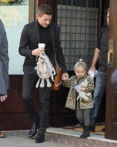 Jeremy Renner Steps Out With His Very Rarely-Seen Daughter Ava — See the Cute Pics!