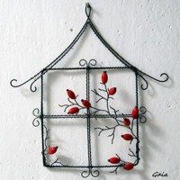 Zboží prodejce Gaia / Zboží | Fler.cz Key Crafts, Wire Crafts, Diy And Crafts, Arts And Crafts, Paper Crafts, Art Fil, Local Craft Fairs, Wire Trees, House Ornaments
