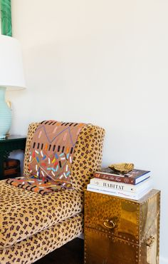 Living Room // Cheetah Print Chair // Deco Throw // Brass Riveted Side Table // Fashion Books // Project Palomino // Palomino Bazaar // New Canaan My Living Room, Living Spaces, Room Inspiration, Interior Inspiration, Living Vintage, My New Room, Apartment Living, Home Decor Accessories, Cheap Home Decor