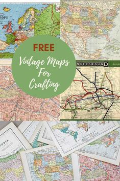 Wonderful Free Printable Vintage Maps To Download - Pillar Box Blue Vintage Maps, Antique Maps, Vintage Ephemera, Vintage Signs, Cheap Dorm Decor, Dorm Decorations, Quirky Home Decor, Vintage Home Decor, Map Crafts