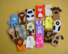 Set of 10 Animal Finger Puppets