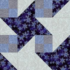 Create a Star-Filled Sky With the Milky Way Quilt Pattern: Blue Milky Way Quilt Block & Linking Units